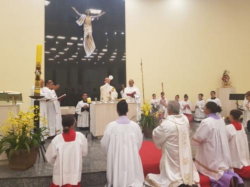 Posse do novo Pároco Pe José Chapron na Paróquia São Roque do Imirim