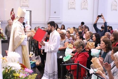 Dom Sergio de Deus Borges, Bispo Auxiliar de São Paulo, celebrou a Eucaristia