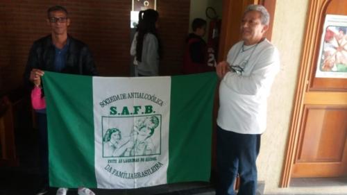 Sociedade Antialcoolica da Família Brasileira realizou uma dedicatória para o Padre Erly Avelino