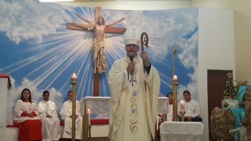 Oitavo dia da novena na capela Nossa Senhora Aparecida