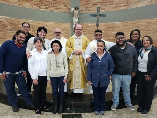 Dom Sergio celebra missa em ação de graças pelos 7 anos de trabalho juntos