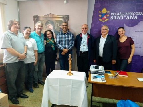 Dom Sérgio de Deus Borges inaugurou oficialmente e abençoou a Sala da PASCOM da Região Sant´Ana
