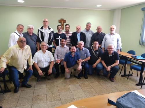 Dom Jorge Pierozan Bispo Auxiliar de São Paulo, se reuniu com os Padres e comissão sinodal