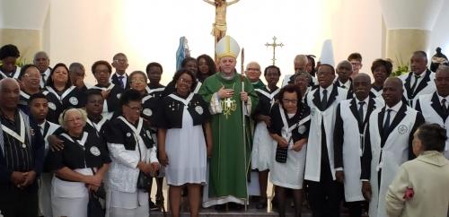 Foi celebrada missa presidida por Dom Jorge Pierozan, em honra a São Benedito