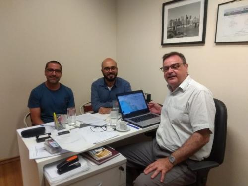 Reunião de avaliação dos trabalhos de elaboração do livro do Pe. Tommaso Leporale