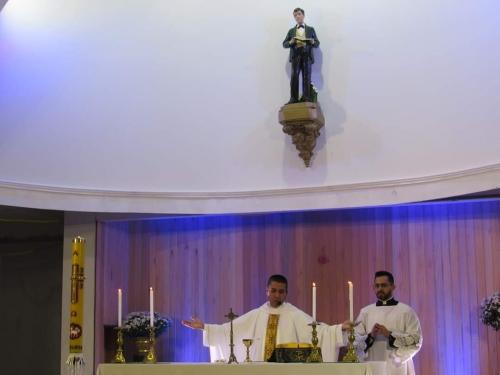 Celebração da missa solene em honra do seu Padroeiro